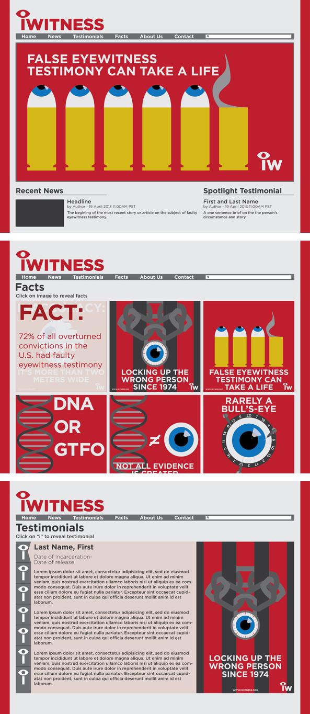 iWitness Website Mockup