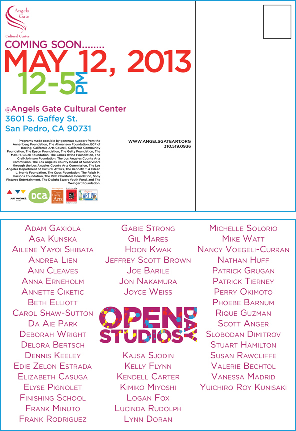 Angels Gate Cultural Center Open Studios Day Postcards