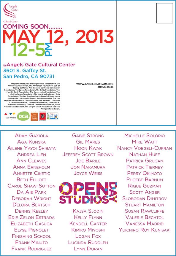 Angels Gate Cultural Center Open Studios Day Postcards