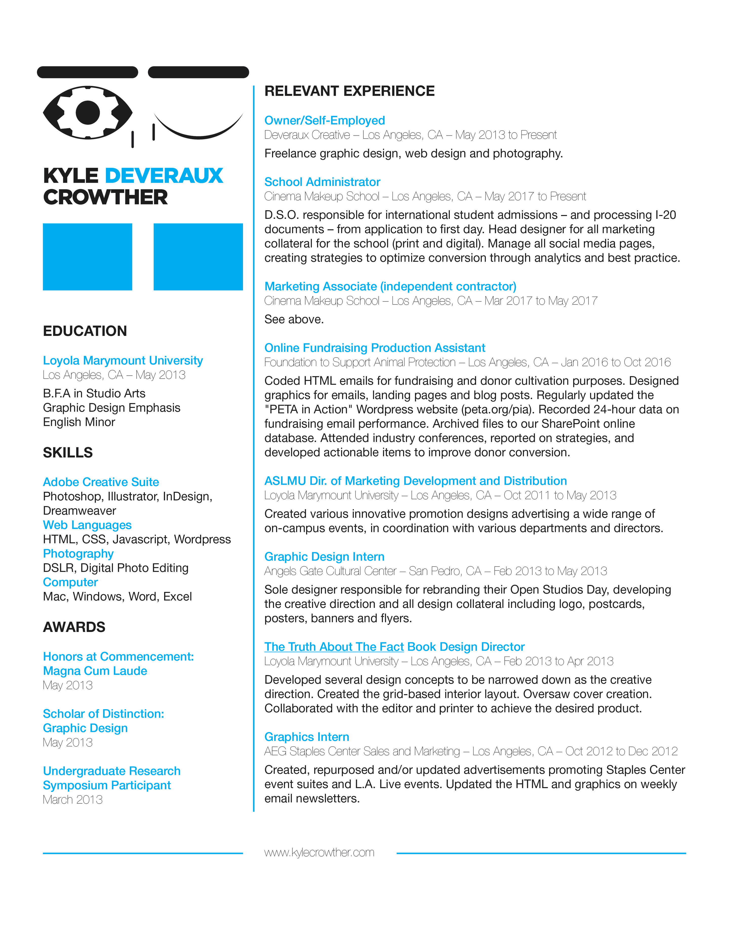 Resume | Kyle Crowther