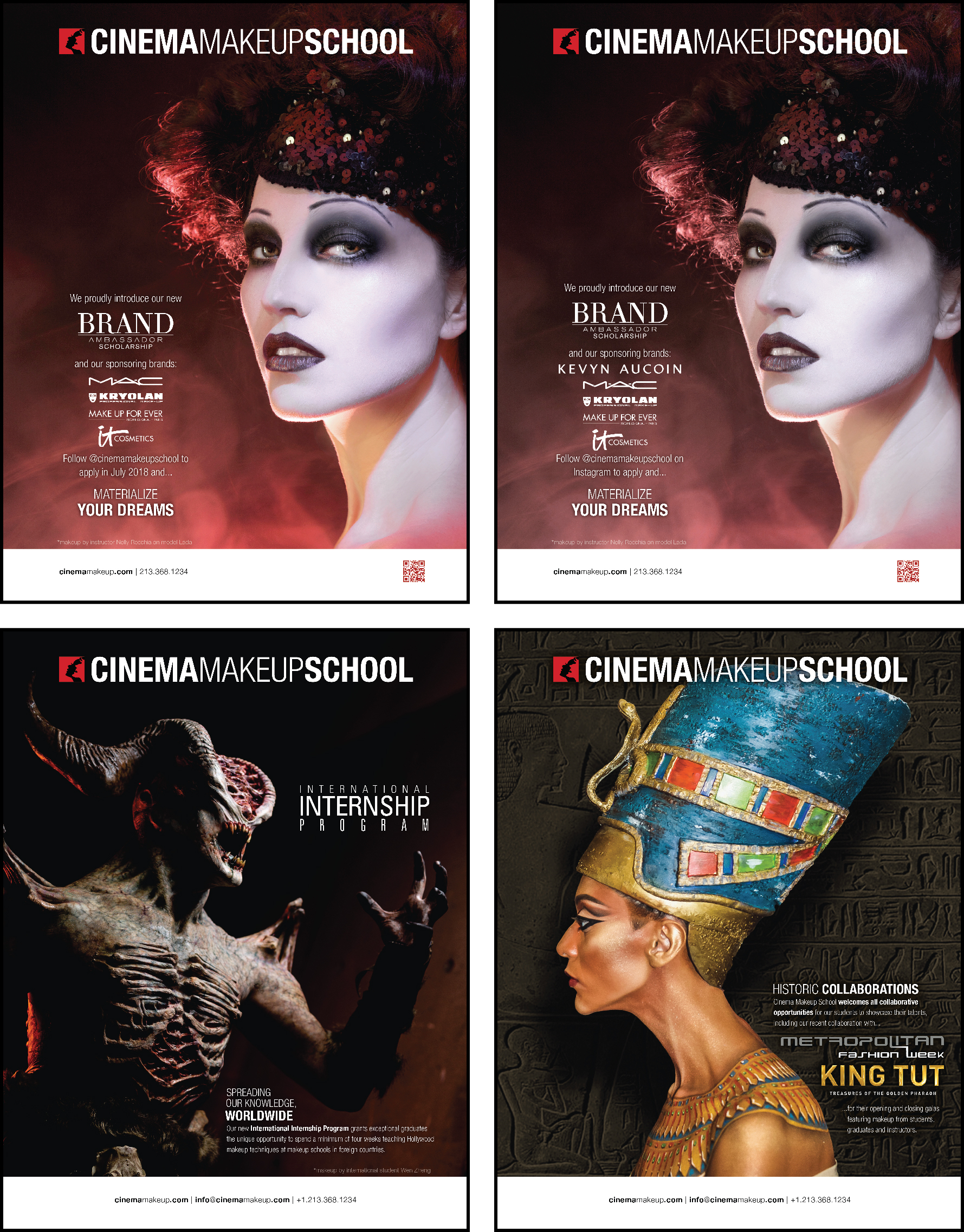 Cinema Makeup School Makeup Artist Magazine Ads