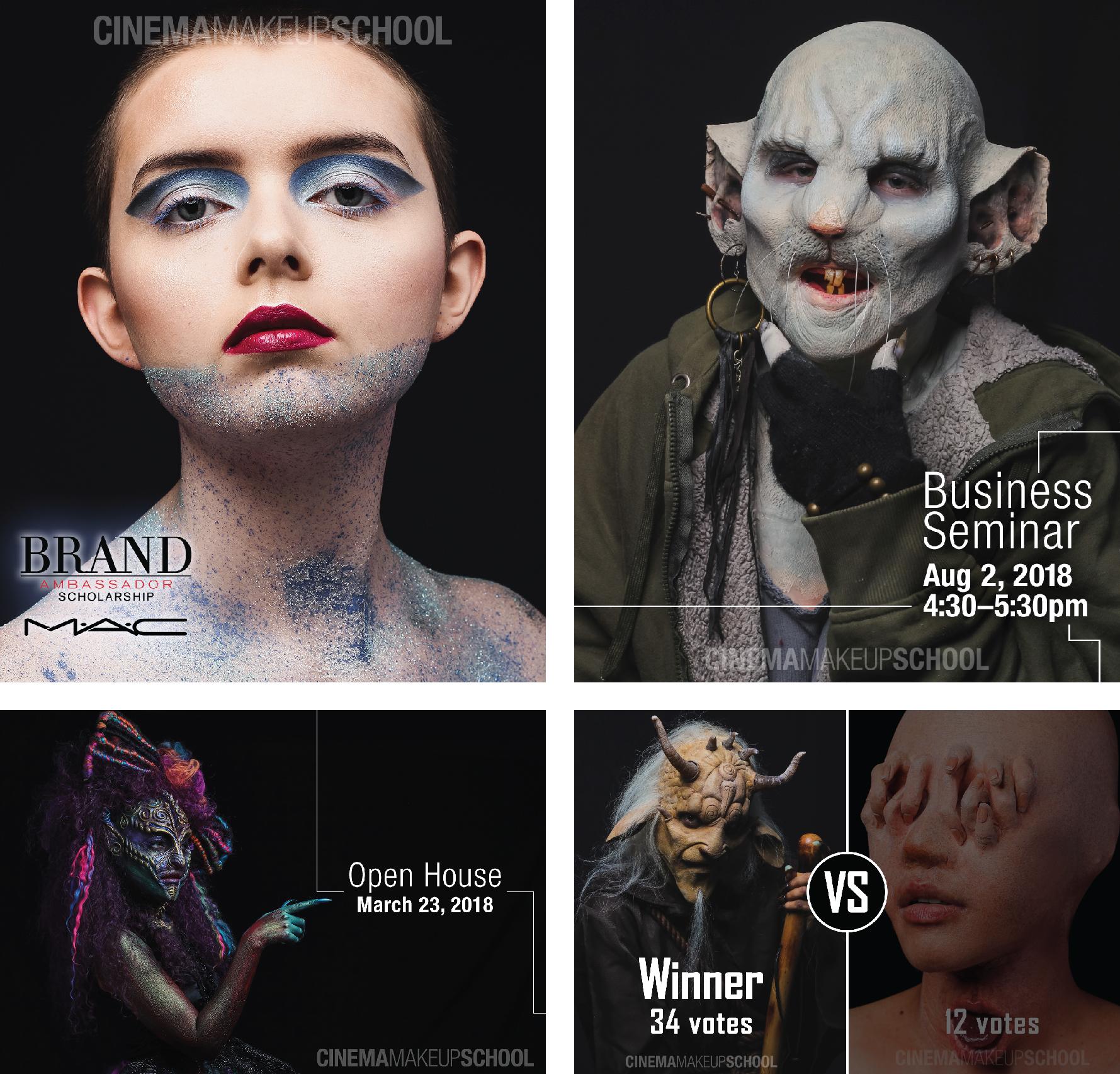 Cinema Makeup School Social Media Ad Posts