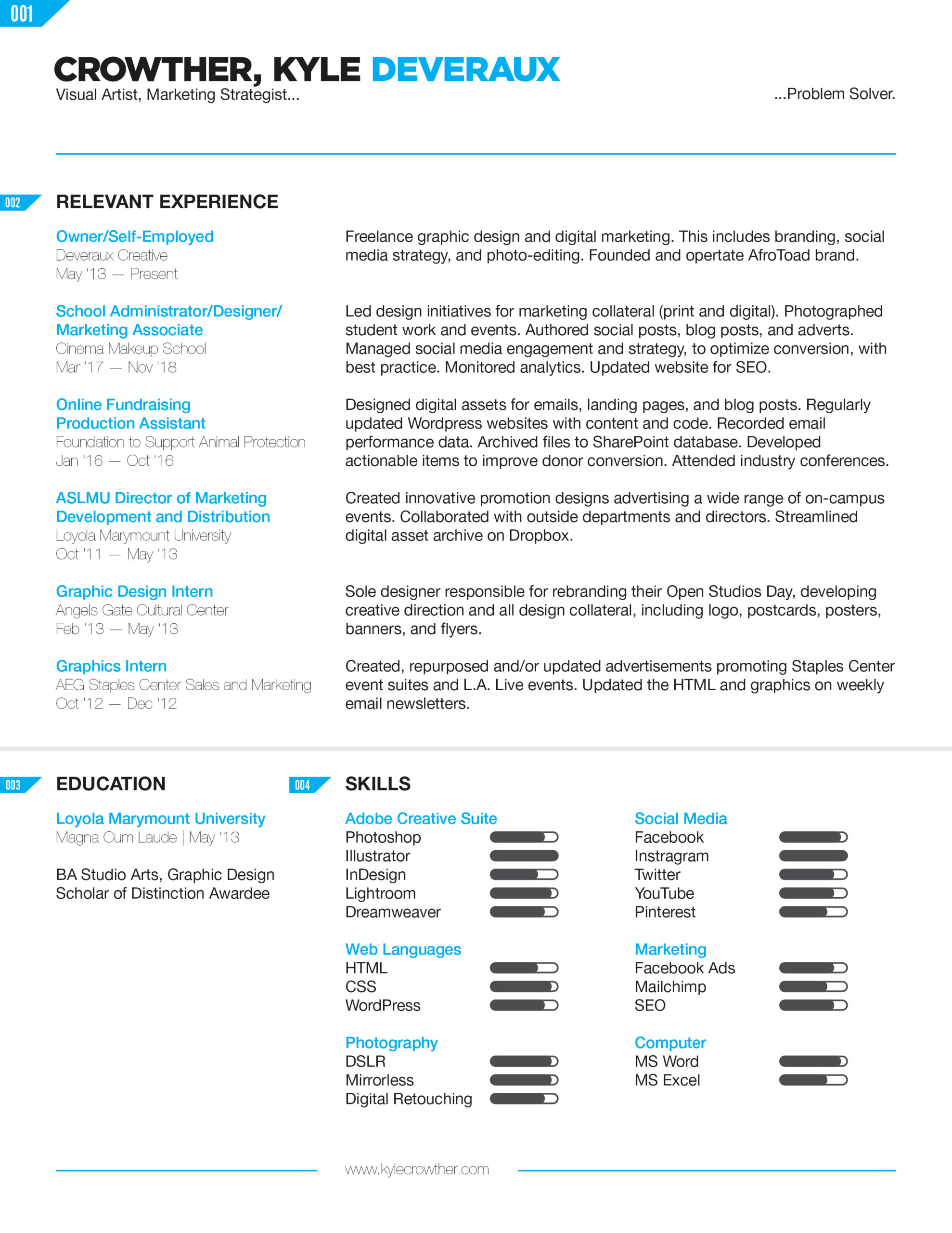 Kyle Crowther – Resume